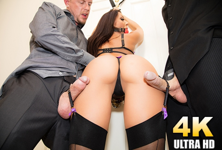 Rachel Starr Is Bound And Gagged And Double Dicked
